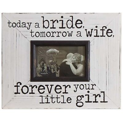 "Mud Pie® ""Today A Bride"" 3.5-Inch x 5-Inch Picture Frame"