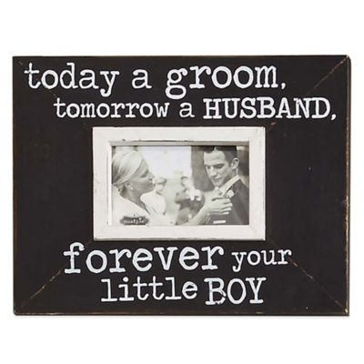 "Mud Pie® ""Today A Groom"" 3.5-Inch x 5-Inch Picture Frame"
