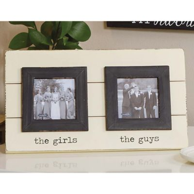 Mud Pie® Girls & Guys 2 Photo Picture Frame