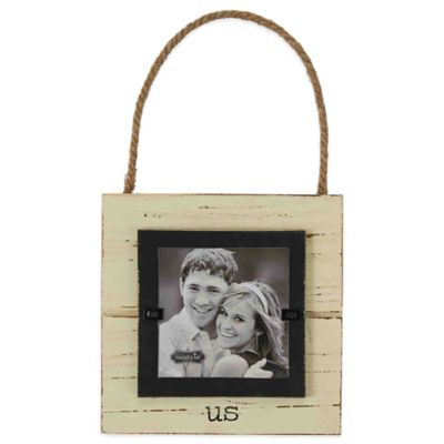"Mud Pie® ""Us"" 3.5-Inch x 3.5-Inch Hanger Picture Frame"