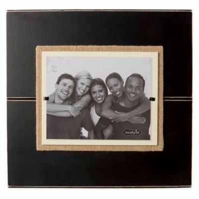 Mud Pie® Deluxe 8-Inch x 10-Inch Picture Frame in Black