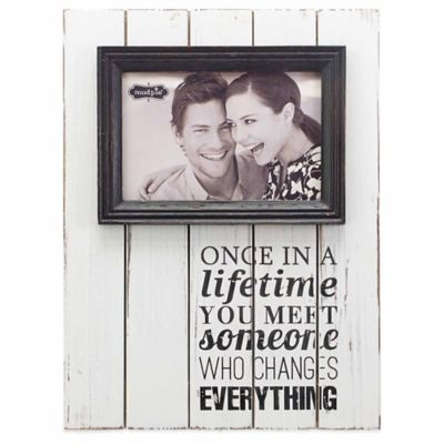 "Mud Pie® ""Once in a Lifetime"" 4-Inch x 6-Inch Picture Frame"