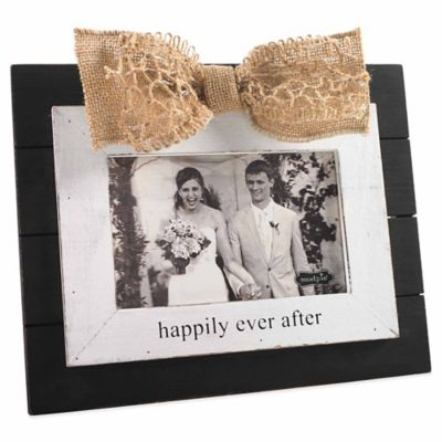 "Mud Pie® ""Happily Ever After"" 4-Inch x 6-Inch Picture Frame"
