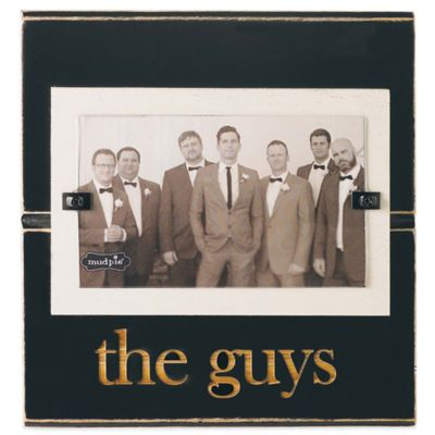 "Mud Pie® ""The Guys"" 3-Inch x 5-Inch Picture Frame"
