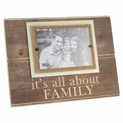 "Mud Pie® ""All About Family"" 5-Inch x 7-Inch Picture Frame"
