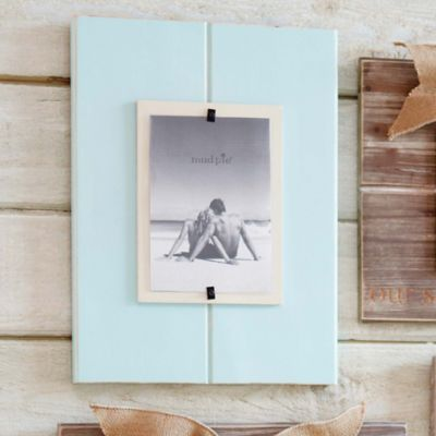 Mud Pie® Distressed Wood 5-Inch x 7-Inch Picture Frame in Sea Foam