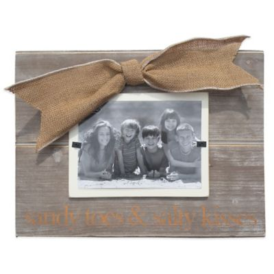 "Mud Pie® ""Sandy Toes"" 3-Inch x 5-Inch Picture Frame"