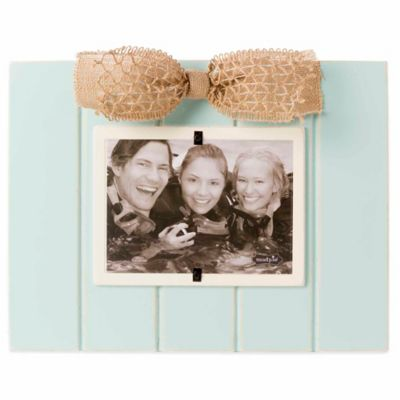 Mud Pie® Sea Foam Bow 5-Inch x 7-Inch Picture Frame