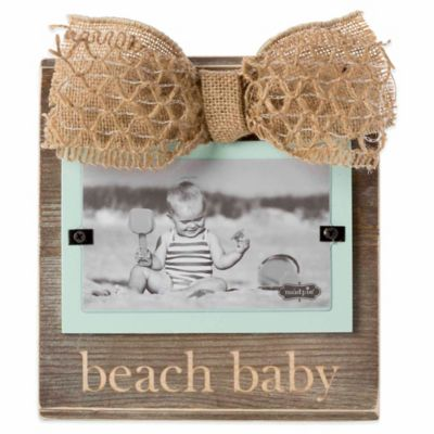 "Mud Pie® ""Beach Baby"" 3-Inch x 5-Inch Picture Frame"