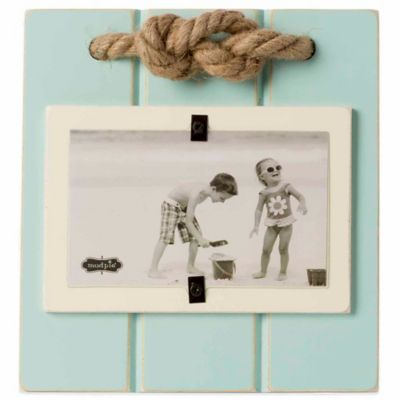 Mud Pie® Rope Knot 3-Inch x 5-Inch Picture Frame