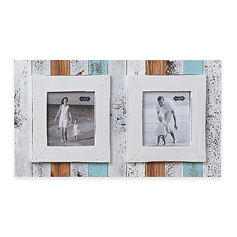 Mud Pie 174 Double Beach 2 Photo Picture Frame Bed Bath