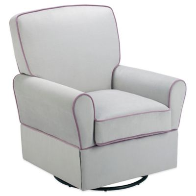 Milan Swivel Glider in Grey