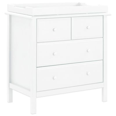DaVinci Autumn 4 Drawer Dresser in White