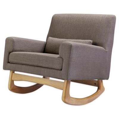 Nursery Works Sleepytime Rocker in Hazelnut with Light Legs