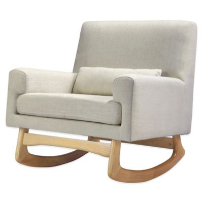 Nursery Works Sleepytime Rocker in Oatmeal with Natural Legs
