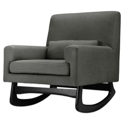 Nursery Works Sleepytime Rocker in Charcoal with Espresso Legs