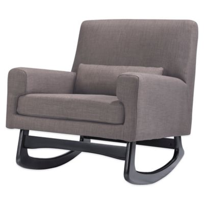 Nursery Works Sleepytime Rocker in Pebble with Espresso Legs