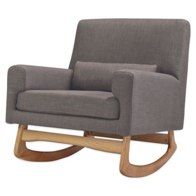 Nursery Works Sleepytime Rocker in Pebble with Natural Legs