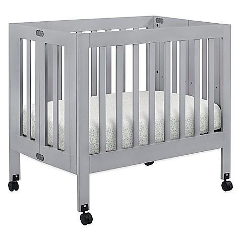 Baby Furniture Babyletto Origami Mini Crib In Grey From Buy Buy Baby