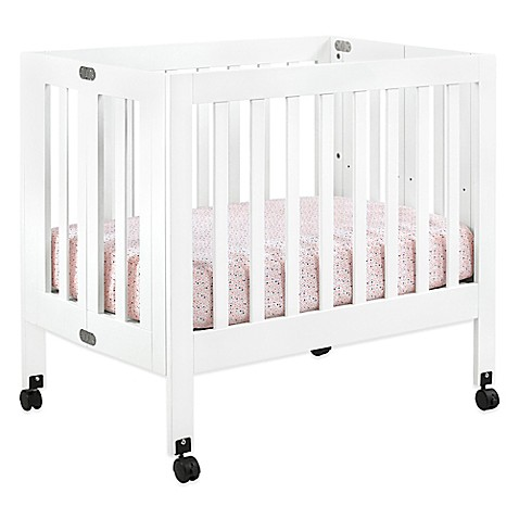 babyletto origami mini crib in white wwwbuybuybabycom
