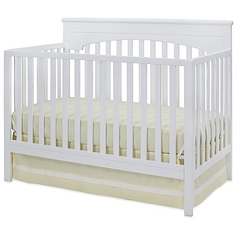 delta layla 4 in 1 convertible crib in white buybuy baby. Black Bedroom Furniture Sets. Home Design Ideas