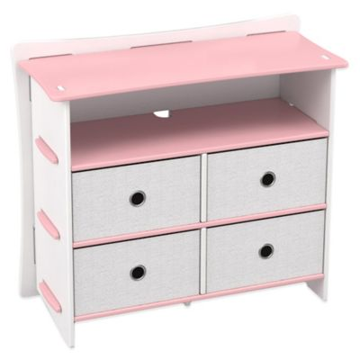 Legare® Prince 5-Shelf Tool-Free Dresser in Pink