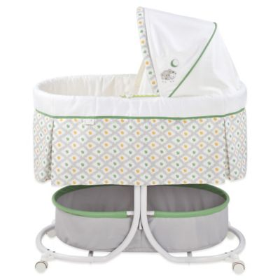 Summer Infant® Soothe & Sleep Sweet Lamb Bassinet with Motion in White/Grey/Green