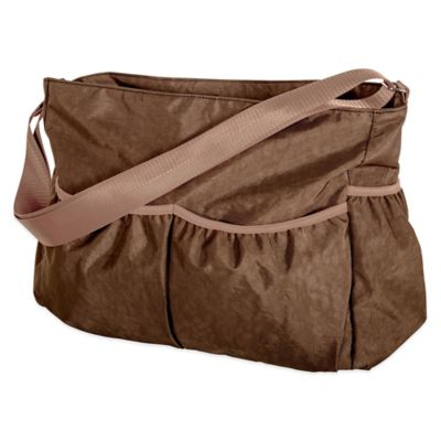 Trend Lab Crinkle Diaper Tote in Brown