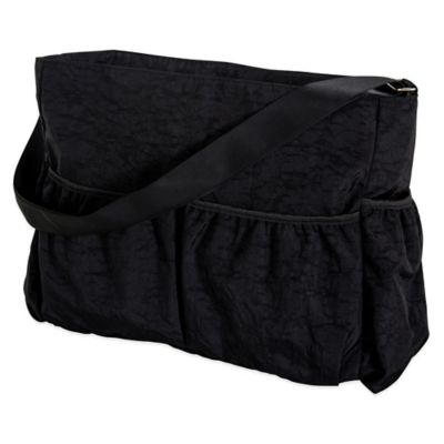 Trend Lab Crinkle Diaper Tote in Black