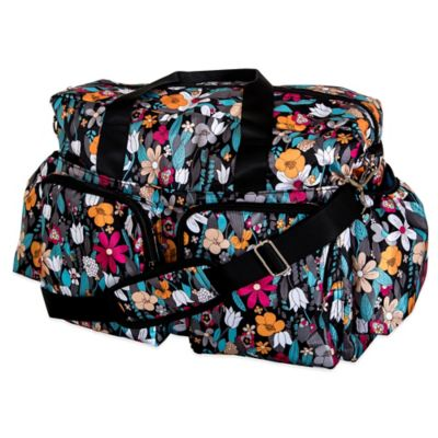 Trend Lab Deluxe Floral Duffle Diaper Bag in Multicolor