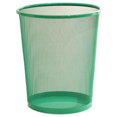 Aqua Metal Wastebasket