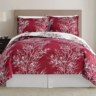 Red and Black King Comforter Set