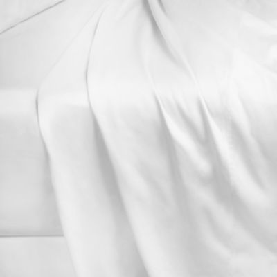 250-Thread-Count 86-Inch x 98-Inch Cotton Percale Queen Flat Sheet in White