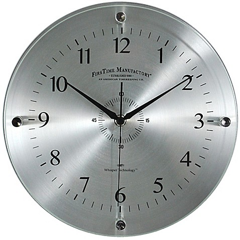 Firstime 174 Steel Whisper Wall Clock Bedbathandbeyond Ca