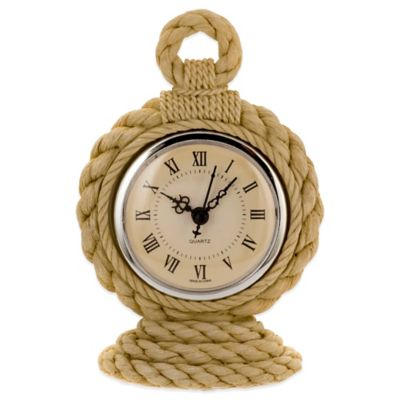 Prinz Hatteras Resin Table Clock in Natural