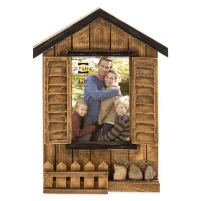 Prinz Woodlands 4-Inch x 6-Inch Cabin Picture Frame