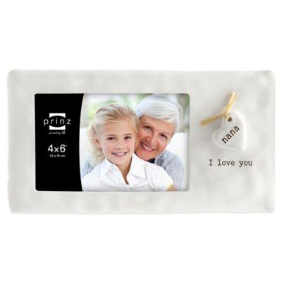 "Prinz Heartfelt 4-Inch x 6-Inch ""Nana"" Picture Frame in Ivory"