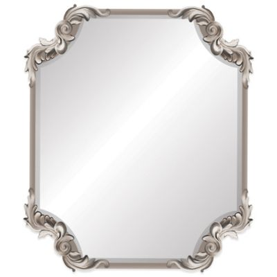 Ornate Antique 19-Inch x 22-Inch Wall Mirror in Silver