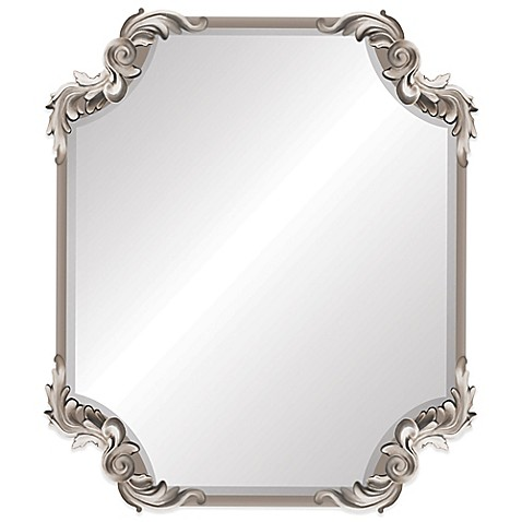 Ornate Antique 19 Inch X 22 Inch Wall Mirror In Silver Bed Bath Beyond