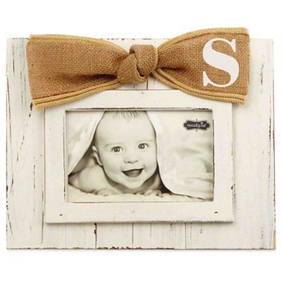 """Mud Pie® Letter """"S"""" 4-Inch x 6-Inch Bow Picture Frame"""