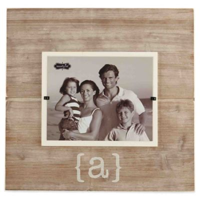"Mud Pie® Letter ""A"" 8-Inch x 10-Inch Wood Picture Frame"