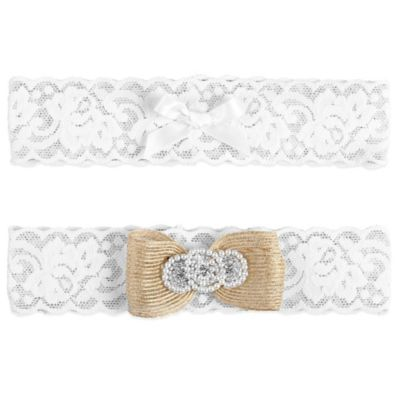 Ivy Lane Design™ Savannah Large Garters in White (Set of 2)