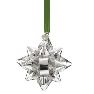kate spade new york 4-Inch Tinsel Topper Bow Ornament in Silver