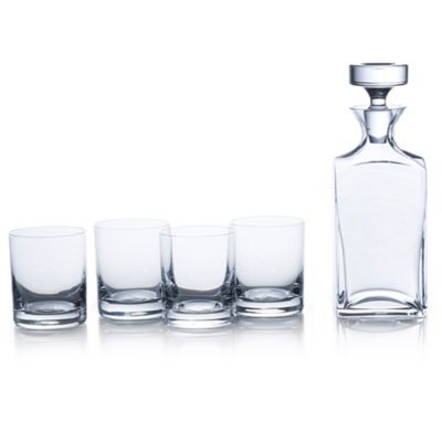 Mikasa® Carson 5-Piece Square Decanter Set