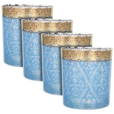 Patina Vie Turquoise Gem Cocktail Glasses (Set of 4)