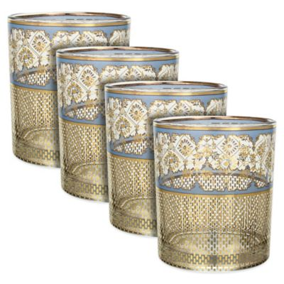 Patina Vie London Secrets Rocks Glasses (Set of 4)