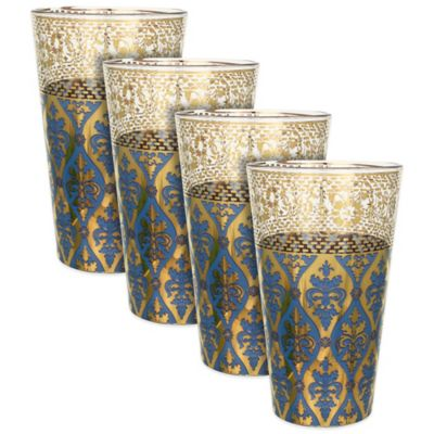 Patina Vie Sapphire Envy Tall Glasses (Set of 4)
