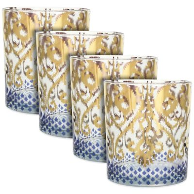 Patina Vie Golden Ikat Cocktail Glasses (Set of 4)