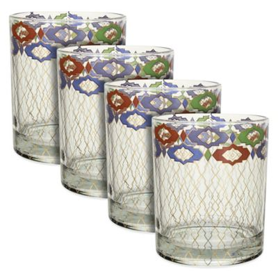 Patina Vie Turkish Filigree Rocks Glasses (Set of 4)