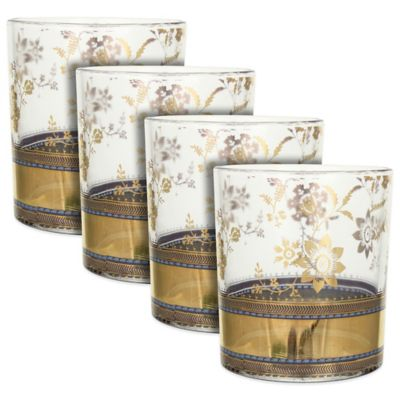 Patina Vie Metallic Lace Cocktail Glasses (Set of 4)